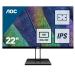 """AOC Value-line 22V2Q pantalla para PC 54,6 cm (21.5"""") 1920 x 1080 Pixeles Full HD LED Plana Mate Negro"""