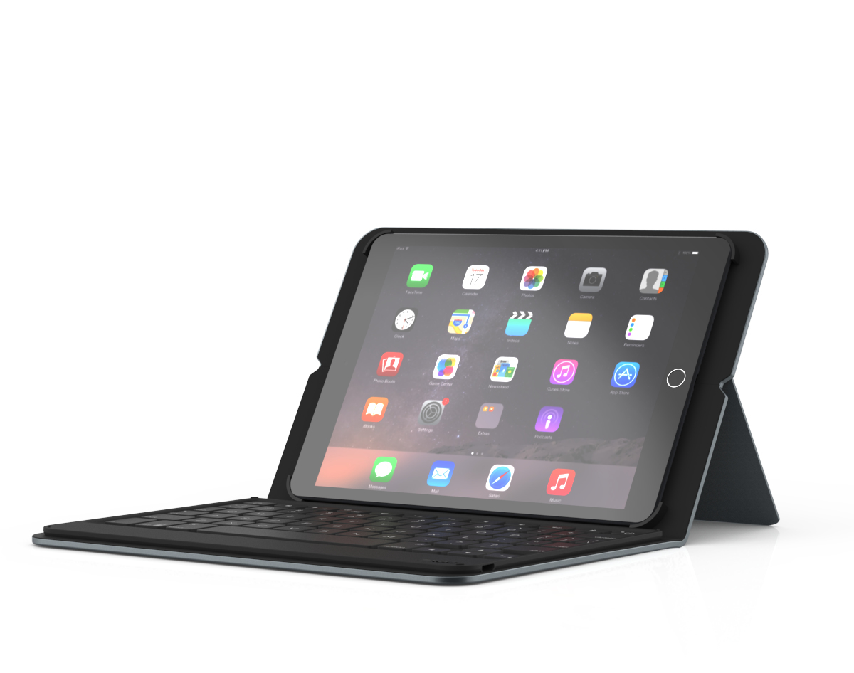 ZAGG Messenger folio toetsenbord voor mobiel apparaat QWERTY Brits Engels Zwart Bluetooth