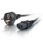 C2G Cable de alimentación europeo 16 AWG de 3 m (IEC320C13 a CEE7/7)