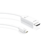 j5 create JDC159 video cable adapter 1.8 m DisplayPort HDMI White