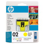 HP 02 Yellow Ink Cartridge Amarillo cartucho de tinta