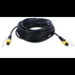 """QVS 4.57m, Toslink, m/m audio cable 179.9"""" (4.57 m) Black"""