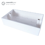 CONNEkT Gear AV Double Back Box - 4 Module 45mm Deep - White