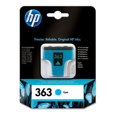 HP 363 Cyan Ink Cartridge Original Cian 1 pieza(s)