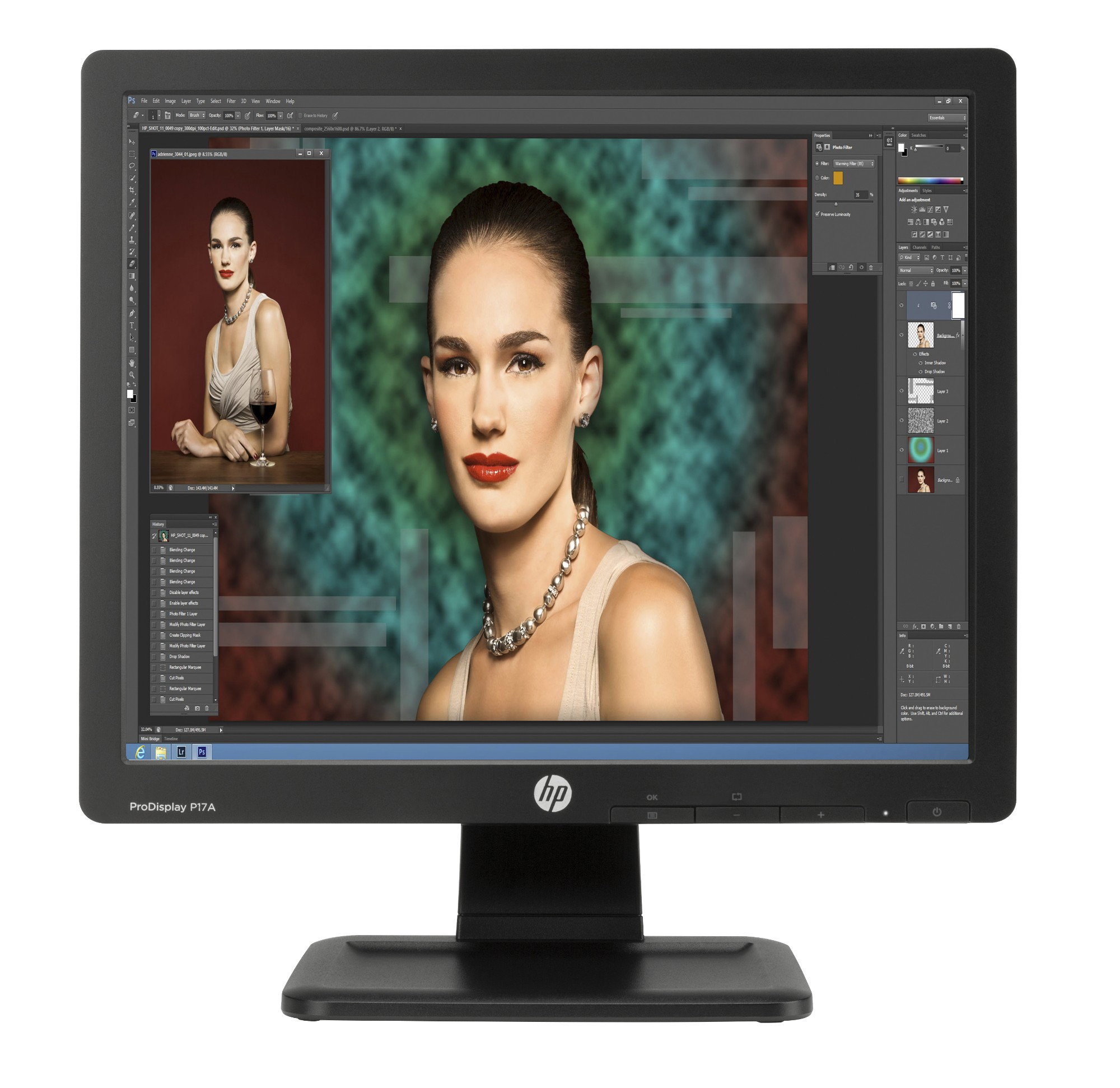 "HP ProDisplay P17A computer monitor 43.2 cm (17"") LED Black"