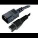 Microconnect PE080618 1.8m C14 coupler Black power cable