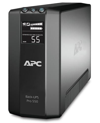 APC Back-UPS Pro uninterruptible power supply (UPS) 550 VA 6 AC outlet(s) Line-Interactive