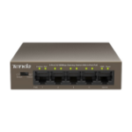 Tenda TEF1105P network switch Managed Fast Ethernet (10/100) Brown Power over Ethernet (PoE)