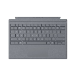 Microsoft Surface Pro Signature Type Cover mobile device keyboard QWERTY Platinum Microsoft Cover port