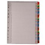 White Box WB MYLAR INDEX A4 1-31 MULTI