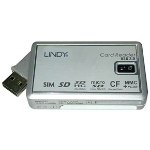 Lindy USB 2.0 Multi card reader Grey