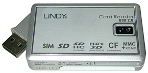 Lindy USB 2.0 Multi Card Reader USB 2.0 Grey card reader
