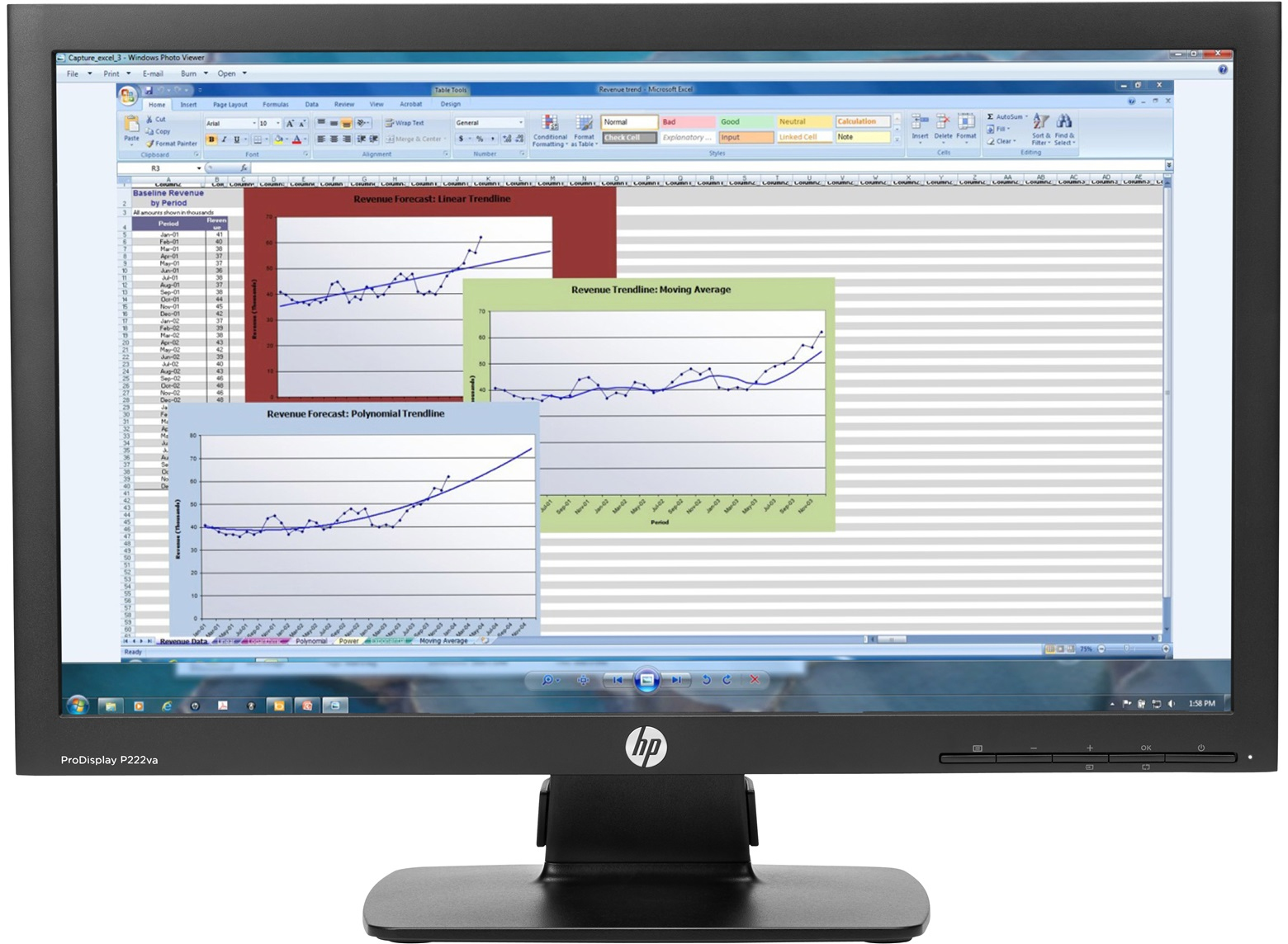 "HP ProDisplay P222va 21.5"" Black Full HD Matt"