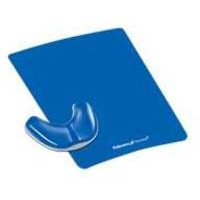 Fellowes Health-V Crystal Gliding Palm Support Blue
