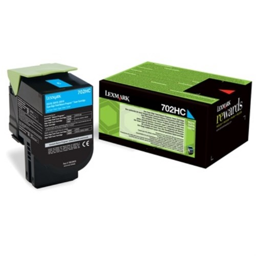 Lexmark 70C2HC0 (702HC) Toner cyan, 3K pages