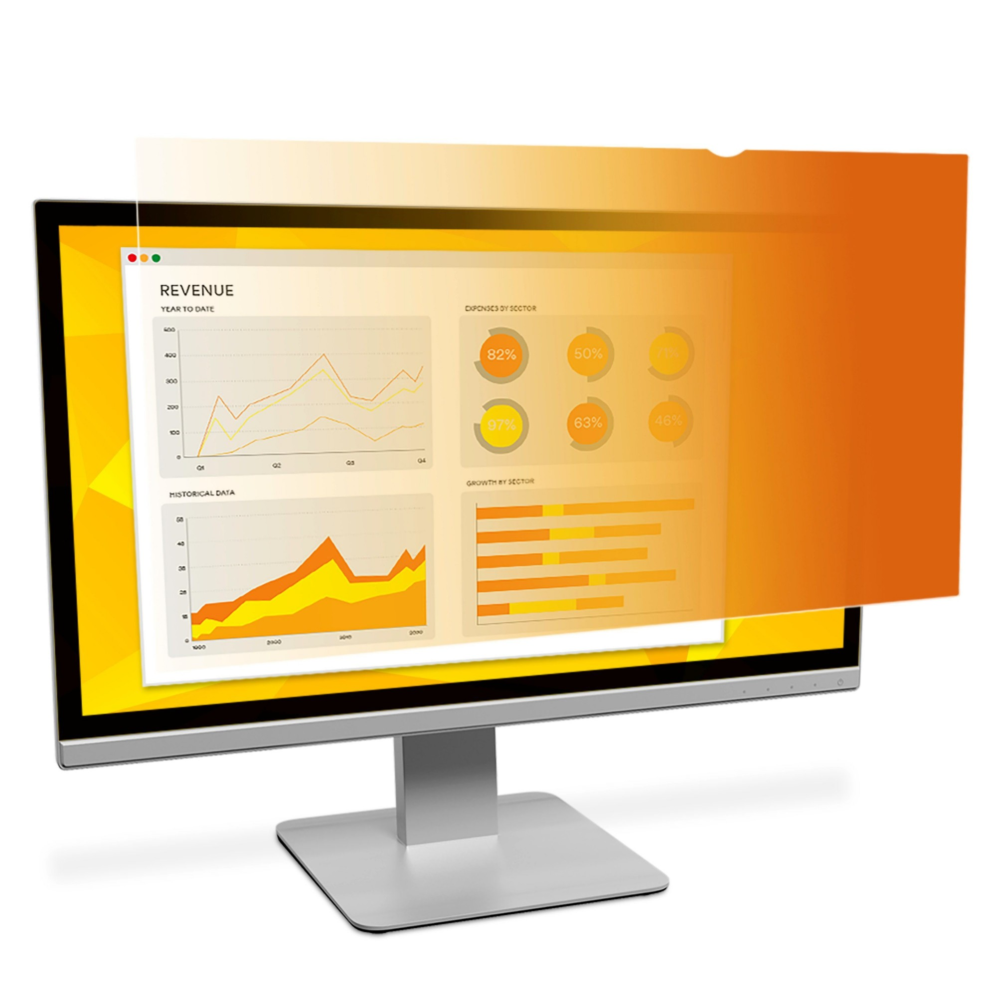 Gold Privacy Filter Gf240w1b - Display Privacy Filter - 21.5in Wide - Gold