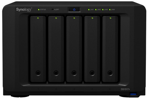 Synology DS1517PL2G10TBSE DiskStation DS1517+(2GB) 10TB IronWolf 5 Bays NAS