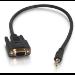 C2G 0.5m DB9 - 3.5mm m/f Black