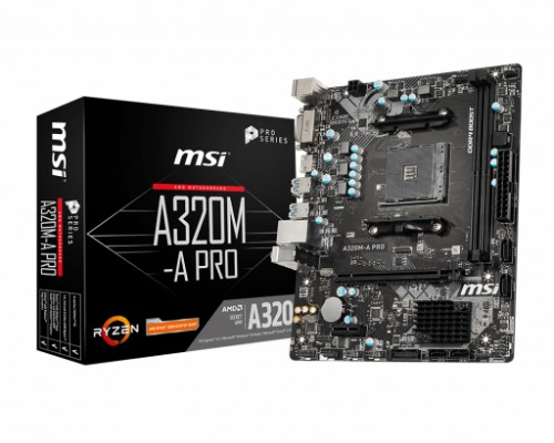 MSI A320M-A PRO motherboard AMD A320 Socket AM4 micro ATX