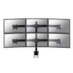 "Newstar Tilt/Turn/Rotate Desk Mount (clamp) for six 19-27"" Monitor Screens, Height Adjustable - Black"