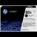 HP 80X svart LaserJet-tonerkassett med hög kapacitet, original Negro 1 pieza(s)