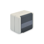 Digitus Outdoor Surface Mount Box for Keystone Modules, IP44 surface mount with hinged lid