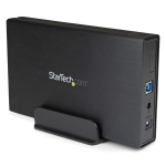 StarTech.com 3.5in Black USB 3.0 External SATA III Hard Drive Enclosure with UASP for SATA 6 Gbps – Portable External HDD S3510BMU33