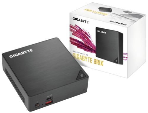 Gigabyte GB-BRI5-8250-BW PC/workstation barebone BGA 1356 1.60 GHz i5-8250U UCFF Black
