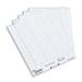 Rexel Crystalfile Crystal Printable Tab Inserts White (50) hanging folder