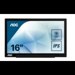 AOC Style-line I1601FWUX PC Flachbildschirm 39,6 cm (15.6 Zoll) 1920 x 1080 Pixel Full HD LED Schwarz