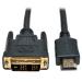 "Tripp Lite P566-003 video cable adapter 35.8"" (0.91 m) HDMI DVI-D Black"