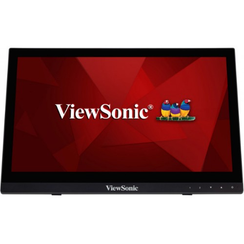 "Viewsonic TD1630-3 touch screen monitor 40.6 cm (16"") 1366 x 768 pixels Black Tabletop"
