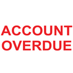 Colop PRNTR 20 ACCOUNT OVERDUE RED