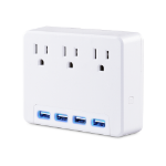 CyberPower P3WU surge protector 3 AC outlet(s) 125 V White