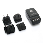 mBeat ® Gorilla Power 4-Port 6.8A 34W USB World Travel Charger - Interchangable World Travel Adapters (AUS
