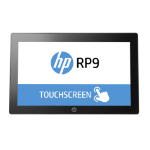 """HP RP9 G1 Retail System Model 9015 3.7GHz 15.6"""" 1366 x 768pixels Touchscreen All-in-one Silver"""