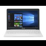 "ASUS E203MA-FD078T notebook White 29.5 cm (11.6"") 1366 x 768 pixels Intel® Pentium® Silver 4 GB LPDDR4-SDRAM 128 GB eMMC Wi-Fi 5 (802.11ac) Windows 10 Home"