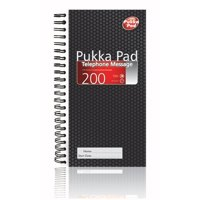 Pukka Value Telephone Message Book NCR 200 Messages PK5