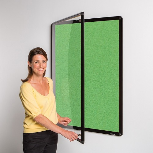Metroplan Shield Design insert notice board Indoor Black, Green Aluminium
