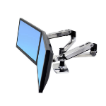"Ergotron LX Series Dual Side-by-Side Arm 68,6 cm (27"") Plata"