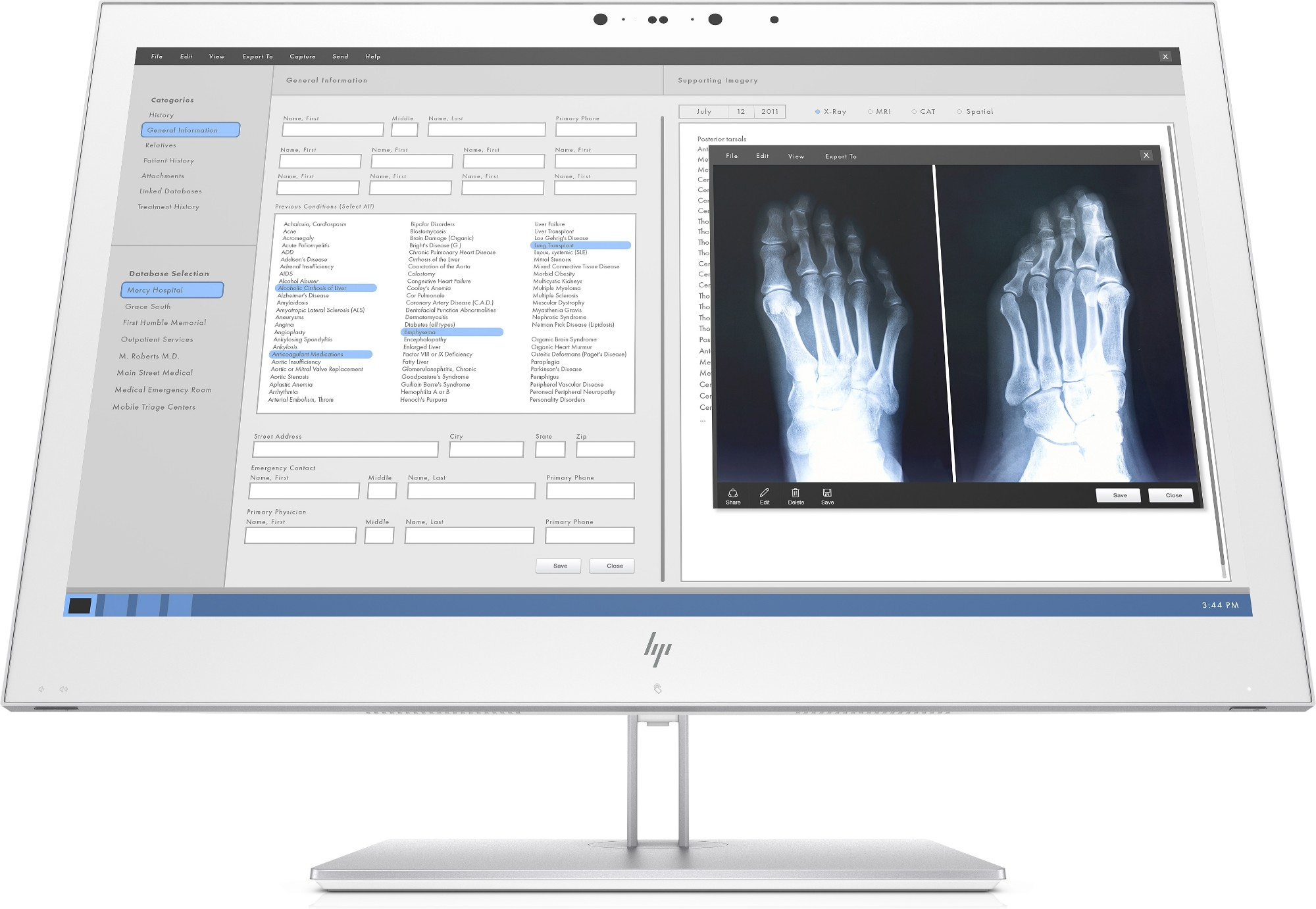 "HP Healthcare Edition HC270cr 68,6 cm (27"") 2560 x 1440 Pixeles Quad HD LED Blanco"