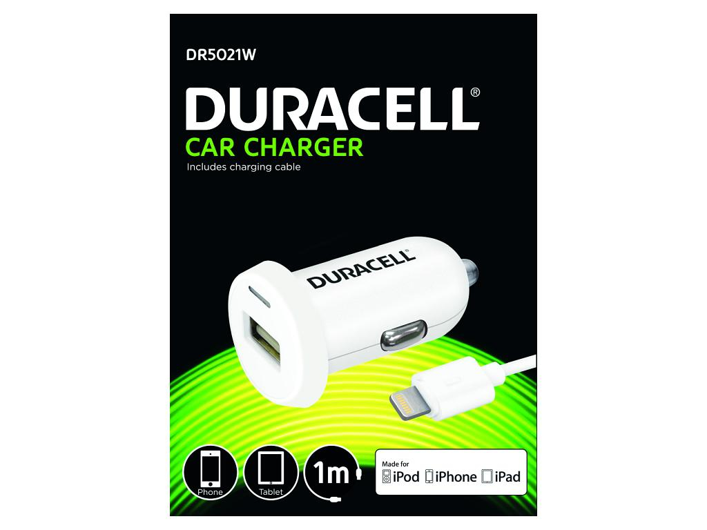 Duracell Single 2.4A +1M Lightning Cable