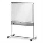Nobo Classic Steel Magnetic Mobile Board Vertical Pivot 1200x900mm