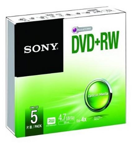 Sony DVD+RW 4.7GB 5 pc(s)