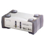 ATEN 2 Port USB KVMP Switch with audio and USB 1.1 Hub - Cables Included