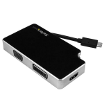 StarTech.com Travel A/V Adapter: 3-in-1 USB-C to VGA, DVI or HDMI - 4K