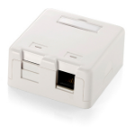 Equip 2-Port Surface Mounted Keystone Box outlet box