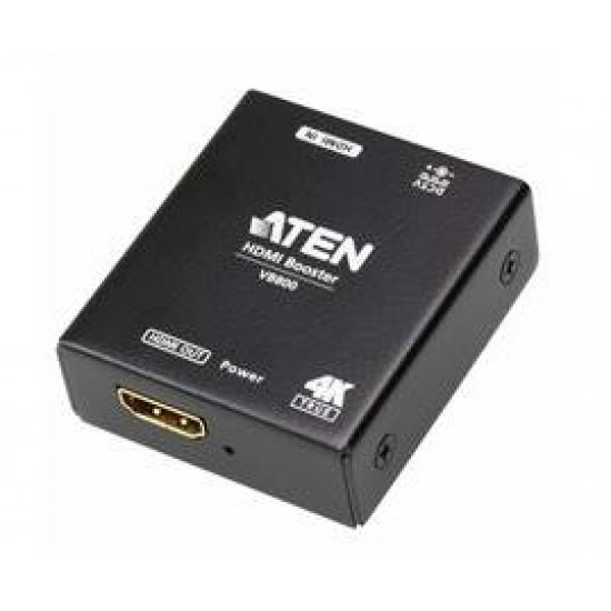 ATEN HDMI True 4K Booster; HDMI 2.0; HDCP 2.2; HDR. Support up to 10m@4K@60Hz(4:4:4 8bits); 20m@1080p res