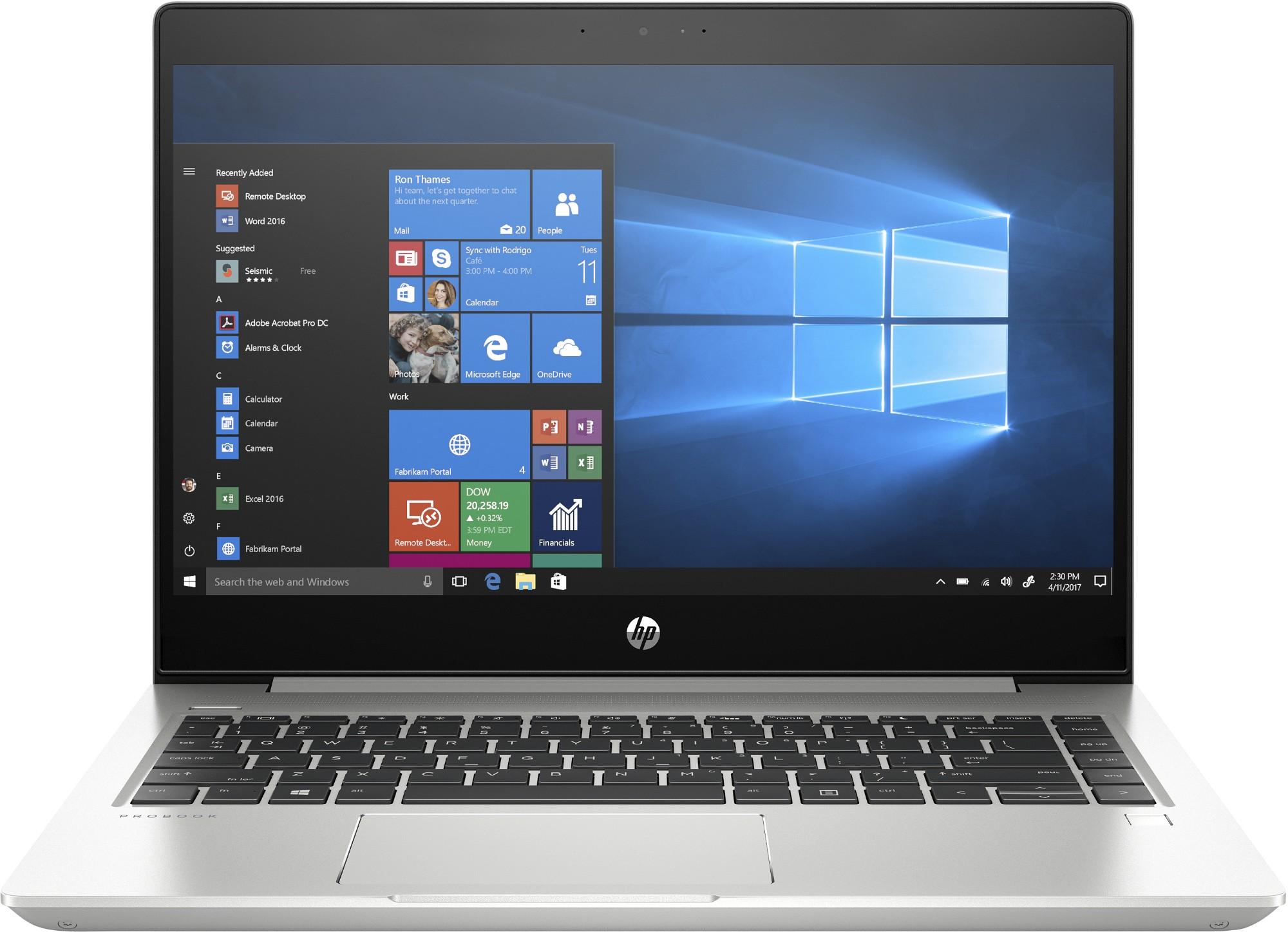 HP ProBook 445R G6 Silver Notebook 35.6 cm 14