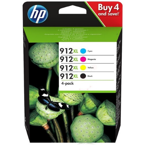 HP 3YP34AE (912XL) Ink cartridge multi pack, 825 pages, Pack qty 4